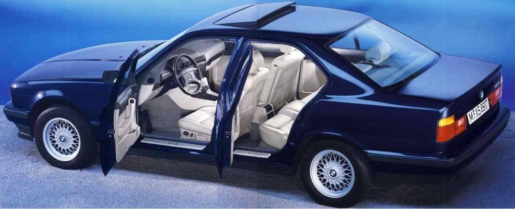 Дизайн салона БМВ 5 серии в кузове Е34